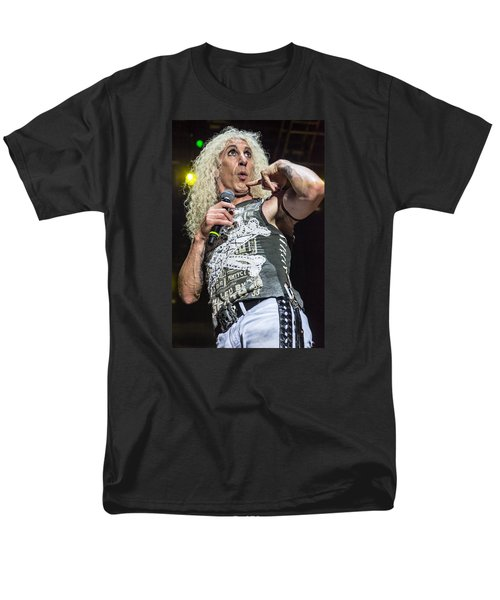 Men's T-Shirt  (Regular Fit) featuring the photograph Twisted Sister - Dee Snider by Stefan Nielsen