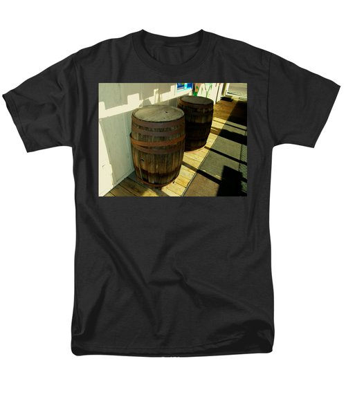 Men's T-Shirt  (Regular Fit) featuring the photograph Two Barrels by Lenore Senior