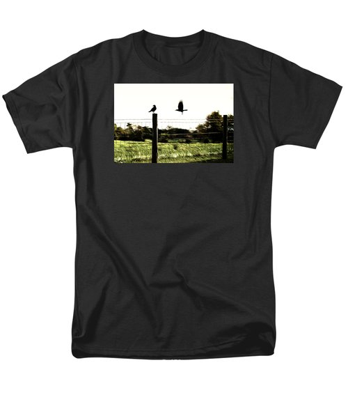 Men's T-Shirt  (Regular Fit) featuring the photograph Two Birds by Carlee Ojeda