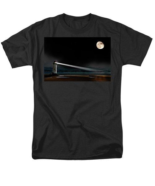 Two Guiding Lights Men's T-Shirt  (Regular Fit) by Meirion Matthias