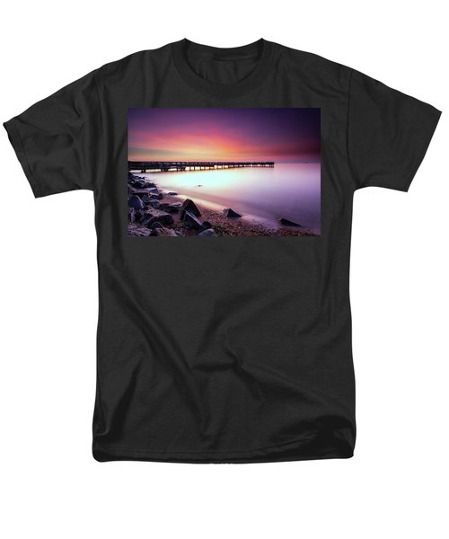Men's T-Shirt  (Regular Fit) featuring the photograph Two Minutes Of Blue Hour   by Edward Kreis