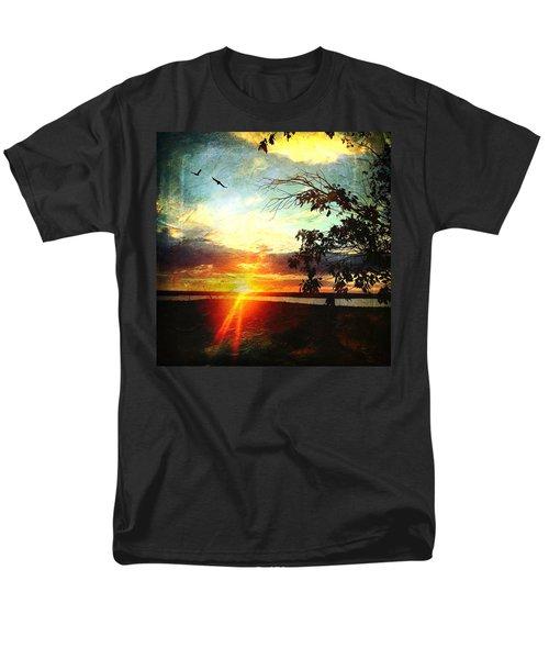 Two Souls Flying Off Into The Sunset  Men's T-Shirt  (Regular Fit) by Debra Martz