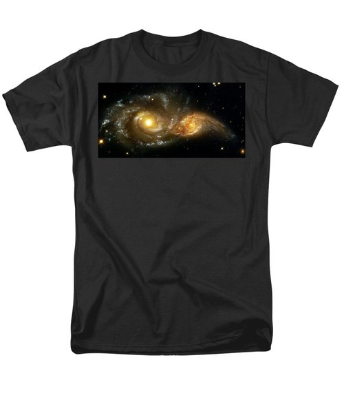 Two Spiral Galaxies Men's T-Shirt  (Regular Fit) by Jennifer Rondinelli Reilly - Fine Art Photography