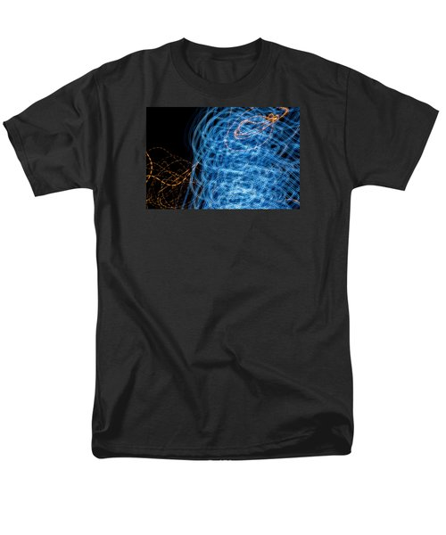 Ufa Neon Abstract Light Painting Sodium #7 Men's T-Shirt  (Regular Fit) by John Williams
