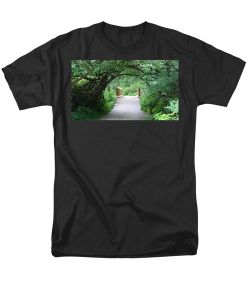 Men's T-Shirt  (Regular Fit) featuring the painting Under The Tunnel by Rod Jellison