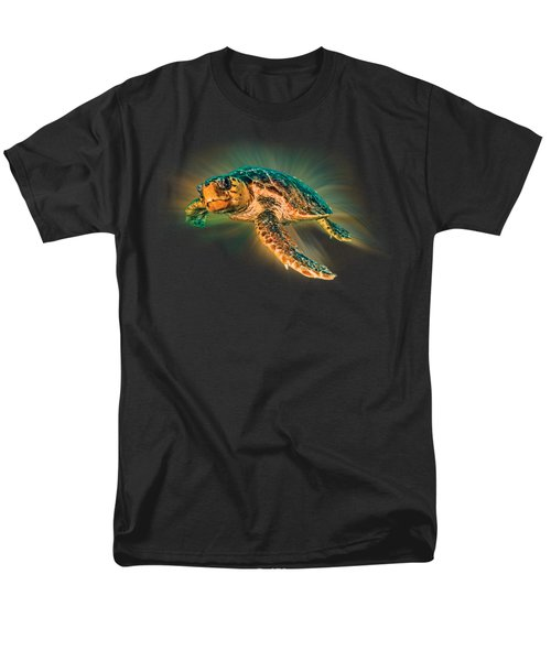 Men's T-Shirt  (Regular Fit) featuring the photograph Undersea Turtle by Debra and Dave Vanderlaan