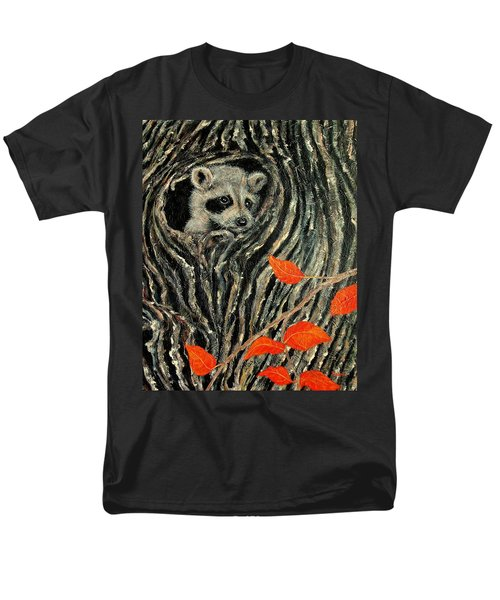 Men's T-Shirt  (Regular Fit) featuring the painting Unexpected Visitor by Susan DeLain