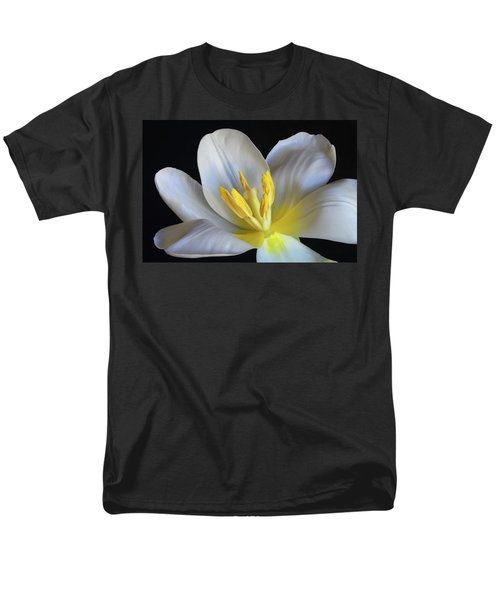 Men's T-Shirt  (Regular Fit) featuring the photograph Unfolding Tulip. by Terence Davis
