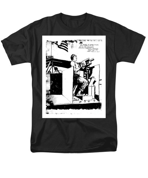 Men's T-Shirt  (Regular Fit) featuring the drawing Untitled by Bob George