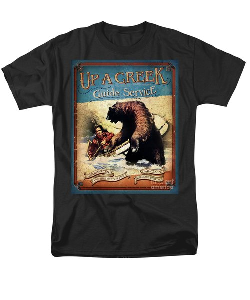 Men's T-Shirt  (Regular Fit) featuring the painting Up A Creek 2 by JQ Licensing