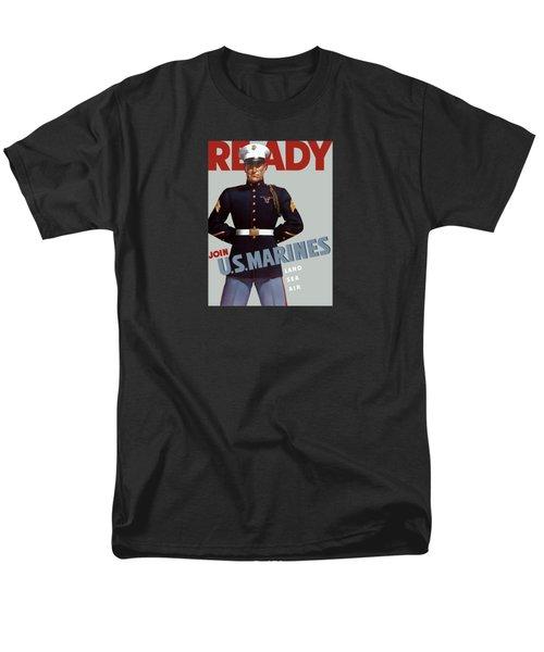 Us Marines - Ready Men's T-Shirt  (Regular Fit)