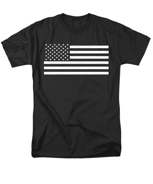 Men's T-Shirt  (Regular Fit) featuring the digital art Usa Flag Hidef Super Grunge Patina by Bruce Stanfield