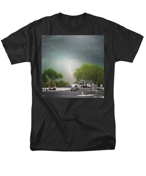 Lightning  Men's T-Shirt  (Regular Fit) by Speedy Birdman