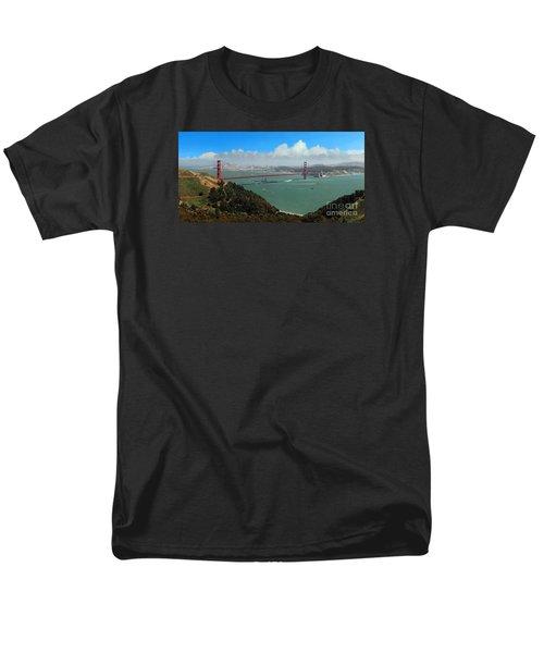Uss Iowa, Battelship, Golden Gate Bridge, San Francisco, Califor Men's T-Shirt  (Regular Fit) by Wernher Krutein