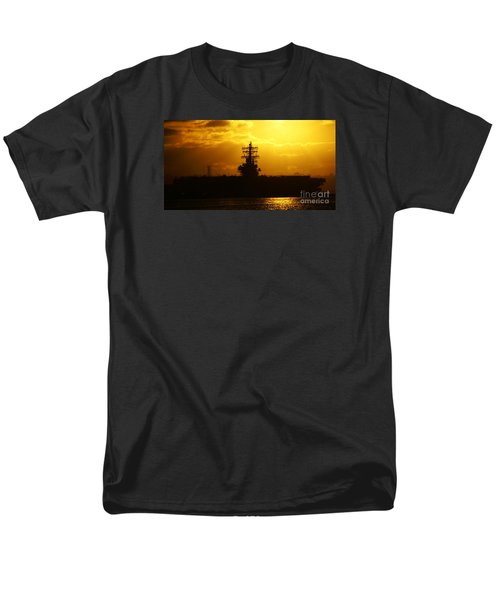 Uss Ronald Reagan Men's T-Shirt  (Regular Fit) by Linda Shafer