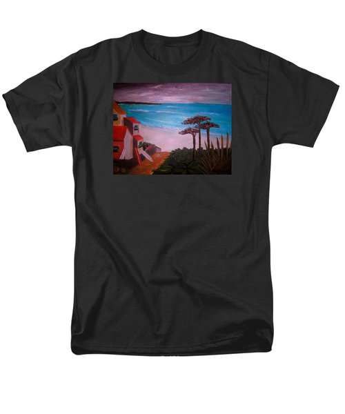 Men's T-Shirt  (Regular Fit) featuring the painting On Vacation by Pristine Cartera Turkus