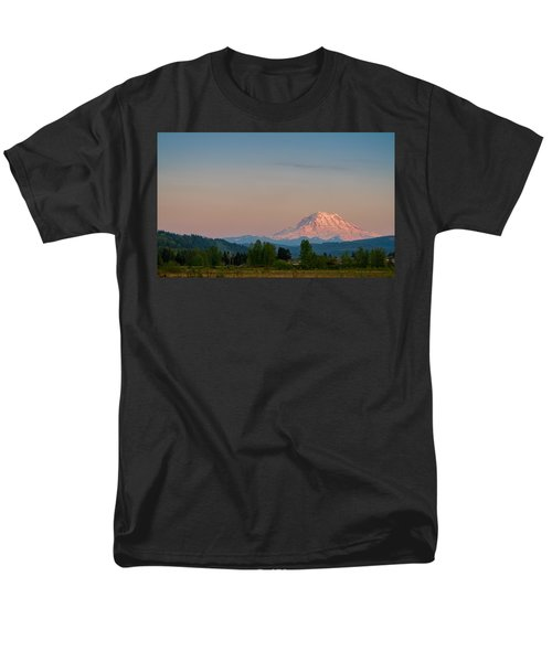 Valley Sunset Of Mt Rainier Men's T-Shirt  (Regular Fit) by Ken Stanback