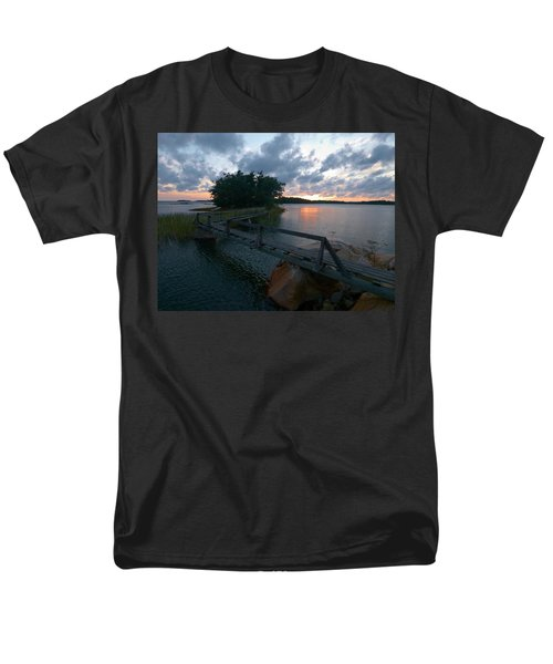 Men's T-Shirt  (Regular Fit) featuring the photograph Variations Of Sunsets At Gulf Of Bothnia 6 by Jouko Lehto