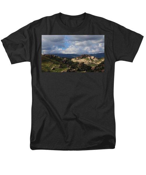 Vasquez Rocks Natural Area Men's T-Shirt  (Regular Fit) by Viktor Savchenko