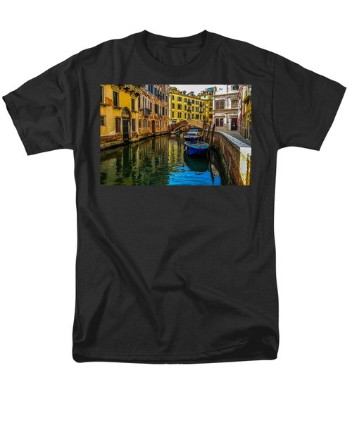 Venice Canal In Italy Men's T-Shirt  (Regular Fit) by Marilyn Burton