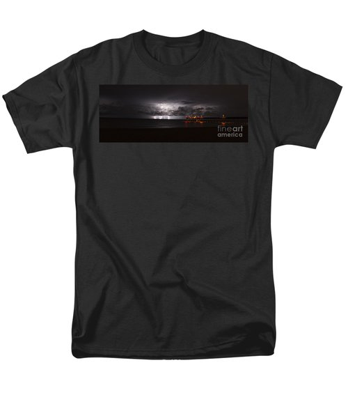 Venice Fishing Pier Men's T-Shirt  (Regular Fit) by Quinn Sedam