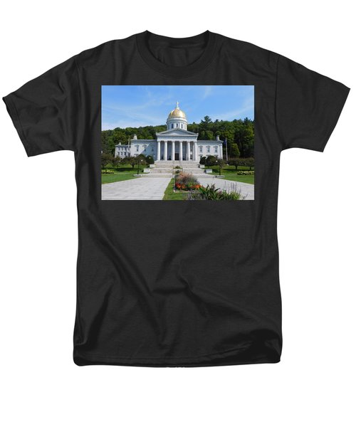 Vermont State House Men's T-Shirt  (Regular Fit) by Catherine Gagne