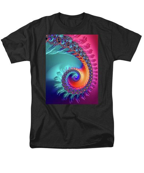 Vibrant And Colorful Fractal Spiral  Men's T-Shirt  (Regular Fit)