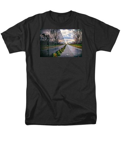 Vietnam War Memorial, Washington, Dc, Usa Men's T-Shirt  (Regular Fit) by Sam Antonio Photography