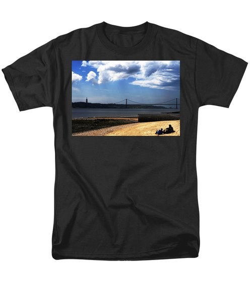Men's T-Shirt  (Regular Fit) featuring the photograph View From Across The Tagus by Lorraine Devon Wilke