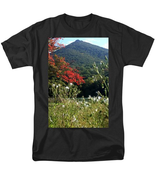 Men's T-Shirt  (Regular Fit) featuring the photograph View Of Sharp Top In Autumn by Emanuel Tanjala