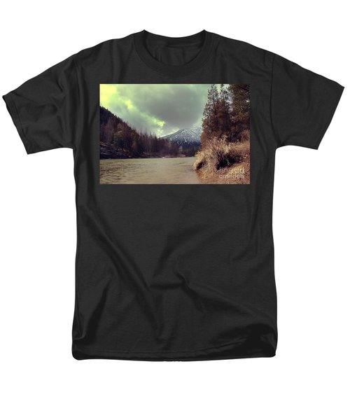View On The Blackfoot River Men's T-Shirt  (Regular Fit) by Janie Johnson