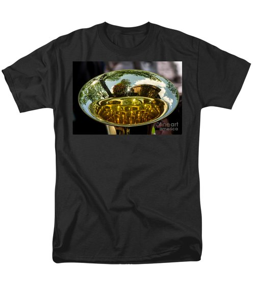 View Through A Sousaphone Men's T-Shirt  (Regular Fit) by Kevin Fortier