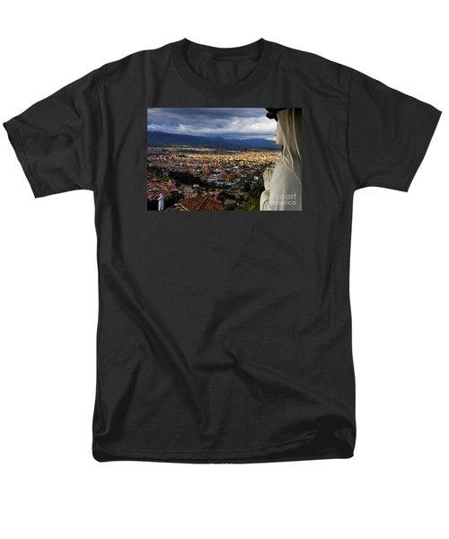 Vigil Over Cuenca From Turi Ecuador Men's T-Shirt  (Regular Fit) by Al Bourassa