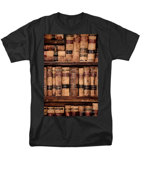 Men's T-Shirt  (Regular Fit) featuring the photograph Vintage American Law Books by Jill Battaglia