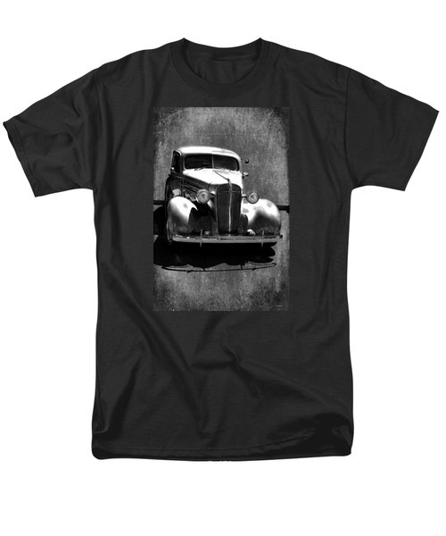 Vintage Car Art 0443 Bw Men's T-Shirt  (Regular Fit) by Lesa Fine