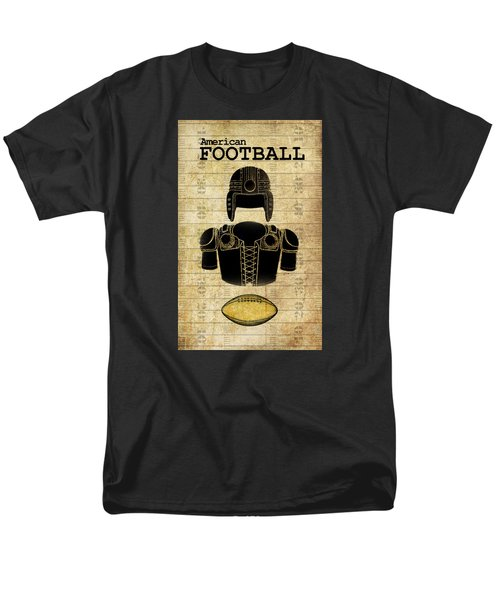 Vintage Football Print Men's T-Shirt  (Regular Fit)