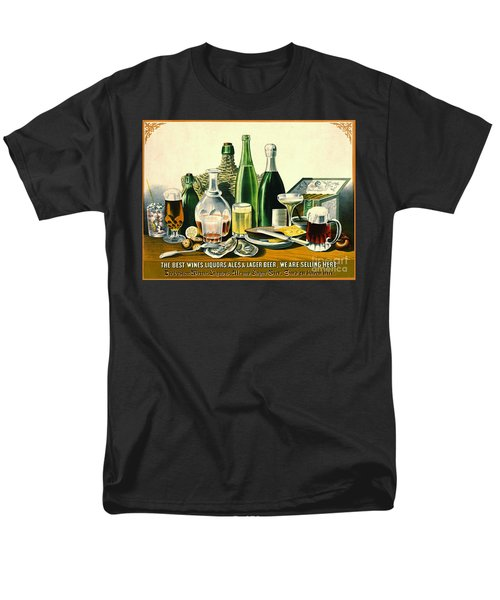 Vintage Liquor Ad 1871 Men's T-Shirt  (Regular Fit) by Padre Art