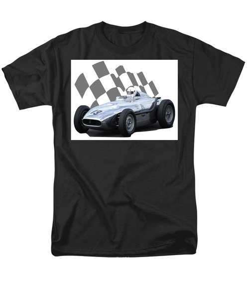 Vintage Racing Car And Flag 7 Men's T-Shirt  (Regular Fit) by John Colley