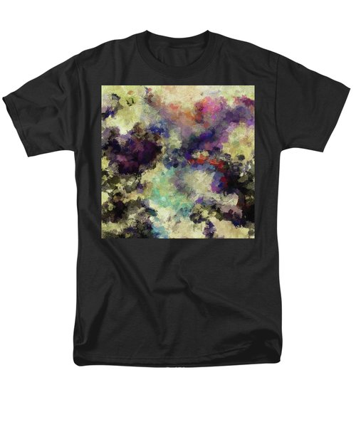 Men's T-Shirt  (Regular Fit) featuring the painting Violet Landscape Painting by Ayse Deniz