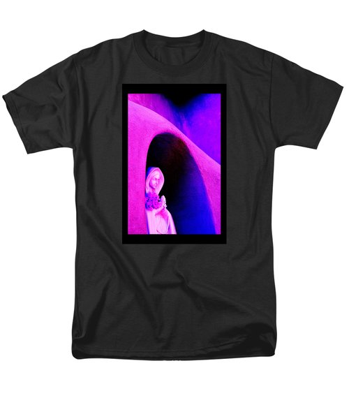 Men's T-Shirt  (Regular Fit) featuring the photograph Violet Virgin Of Guadalupe by Susanne Still