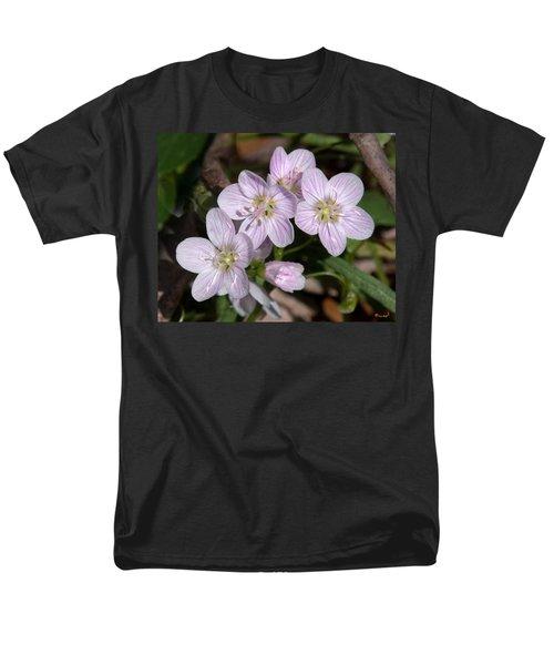 Virginia Or Narrowleaf Spring-beauty Dspf041 Men's T-Shirt  (Regular Fit) by Gerry Gantt