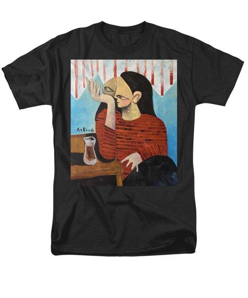 Vitae Woman Drinking Tea Men's T-Shirt  (Regular Fit)