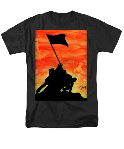 Men's T-Shirt  (Regular Fit) featuring the painting Vj Day by P J Lewis