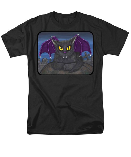 Vlad Vampire Cat Men's T-Shirt  (Regular Fit) by Carrie Hawks
