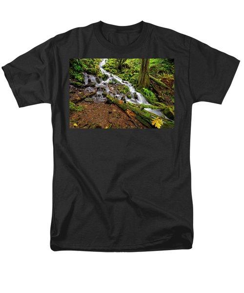 Wahkeena Falls Men's T-Shirt  (Regular Fit) by Jonathan Davison