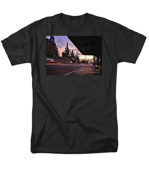 Men's T-Shirt  (Regular Fit) featuring the photograph Waitin' On The Bus by DJ Florek