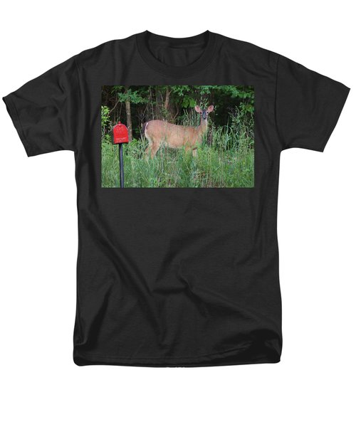 Men's T-Shirt  (Regular Fit) featuring the photograph Waiting For Mailman by Rick Friedle