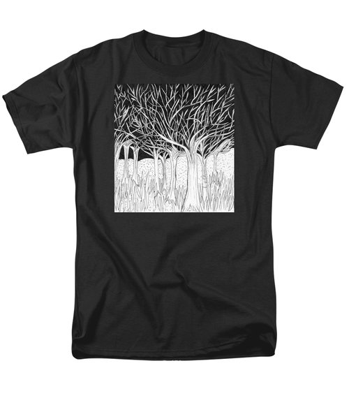 Walking Out Of The Woods Men's T-Shirt  (Regular Fit) by Lou Belcher