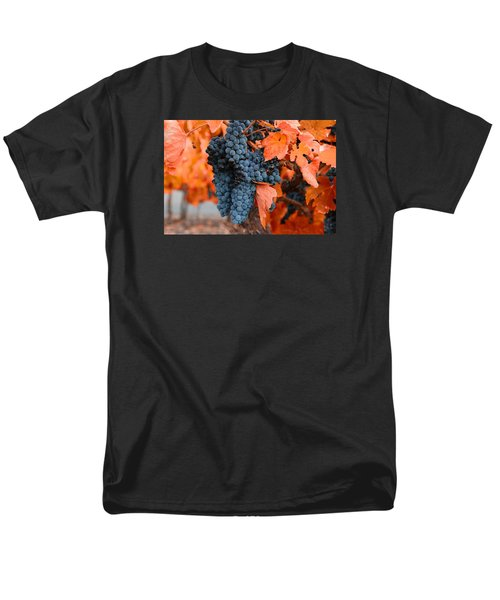 Men's T-Shirt  (Regular Fit) featuring the photograph Walking Though The Vineyard by Lynn Hopwood
