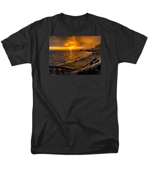 Men's T-Shirt  (Regular Fit) featuring the photograph Warming Sunrise Commencement Bay by Rob Green